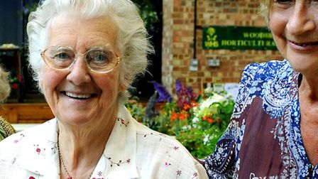 Peggy Cole, who has died at the age of 80, pictured in 2011 in Woodbridge