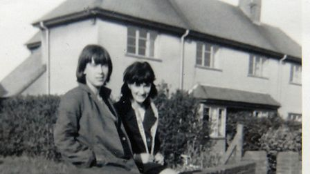 Pat Ward with a friend in the 1960s.