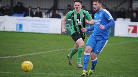 Leiston in action against Burgess Hill