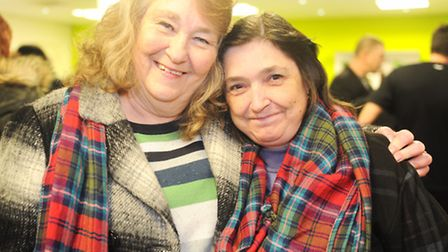 Bay City Rollers fans Linda Tooke and Janet Baldwin. Photo: Lucy Taylor