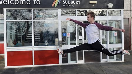 Joey Hogger has got a place at the Rambert School of Dance. Joey is pictured at Ormiston Sudbury Aca