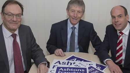 Nick Williams, head of Ashtons Franchise Consulting, with John Chambers and Damian Humphrey from Ash