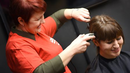 Stephanie Scott has shaved off her hair in aid of SSAFA , the Armed Forces charity.Stephanie hasn't