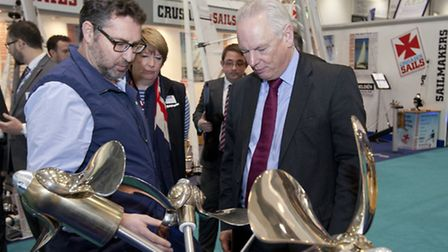 David Shepherd, Product Director, Bruntons Propellers with the Rt Hon Lord Maude of Horsham, Ministe