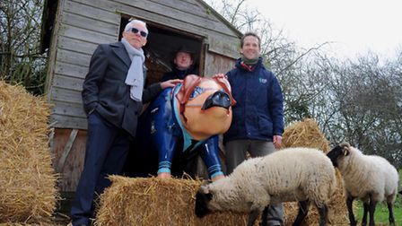 Norman Lloyd of Pigs Gone Wild (L to R) with Simon Burnham-Slipper and Michael Strand of Suffolk Wil