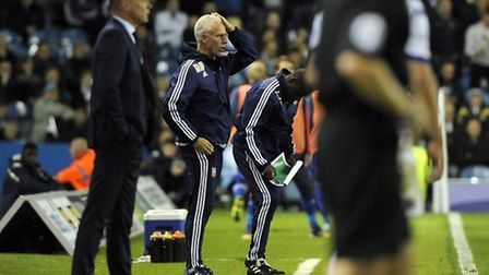Mick McCarthy is concerned during the time added on at Leeds last night