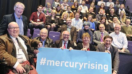 The Mercury Theatre with members from Colchester Borough Council launch Mercury Rising, a renovation