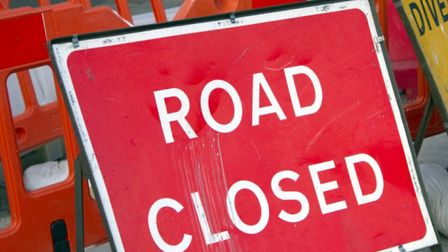 Swan Lane will be closed for resurfacing at its junction with the A140 in Long Stratton. Picture: Ge