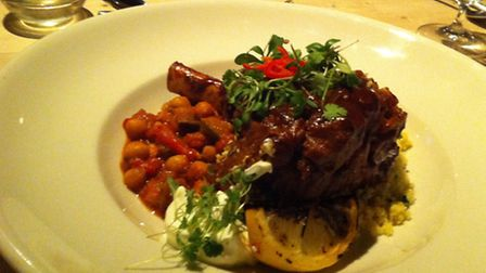 Review, The Westleton Crown. Lamb shank and vegetable tagine.