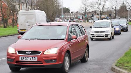 Traffic was diverted through Colchester on Saturday 2nd January after Junctions 27-29 were closed on