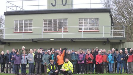 Walkers took part in three-and-a-half mile stroll which included the Martlesham Heath Airfield, home
