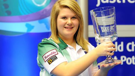Katherine Rednall wins the Ladies' Matchplay title in 2014