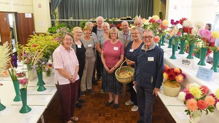 Diss & District Horticultural Society committee memberds at the early autumn show at Roydon Village