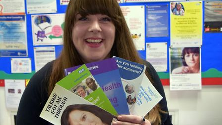 Suffolk Libraries' mental health and wellbeing co-ordinator Sarah Lungley