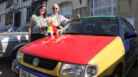 David and Fillian Cott brought their colourful polo and bear to the Transport Fayre Picture: ELLA W