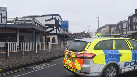 Man injured after falling from parking area adjacent to the flats on St Matthews Street, Ipswich