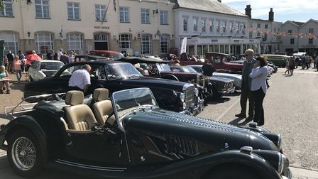 Vintage vehicles fill the Diss town centre as the Heritage Transport Fayre rolls round for another y