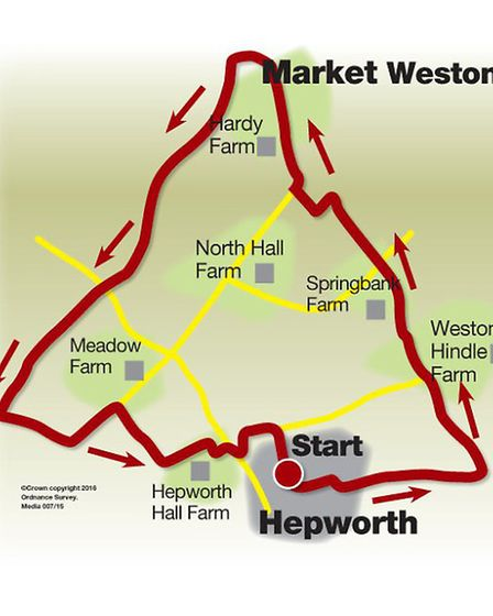 Route of the Hepworth walk