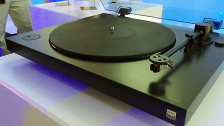 Sony's new turntable - PS-HX500 which goes on sale in April and will cost �400 - and not only plays