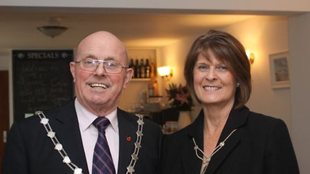 Tim and Margaret Marks during his term as mayor of St Edmundsbury.