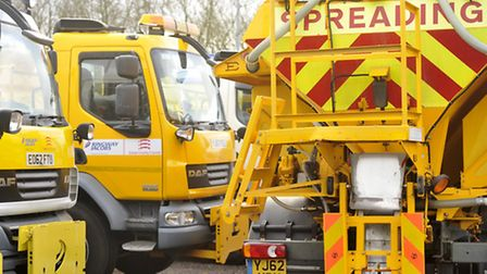 Essex Highways gritting trucks are at the ready.