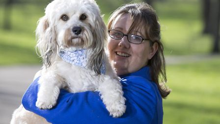 Friends for Life finalist Teddy Bear, the Lhasa Apso cross, and owner Louise Jacobs