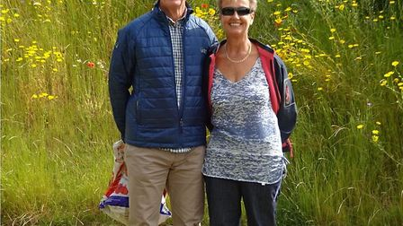 Sally and Bob Thynne, members of the Young family, who will be visiting from South Africa for the un