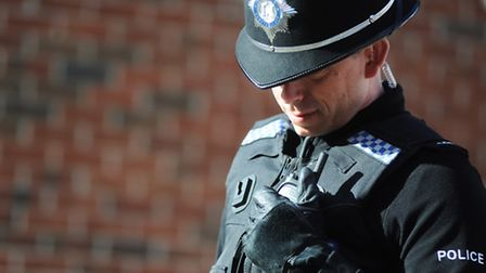 A Suffolk police officer. Stock image.