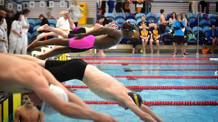 Suffolk County Swimming Championships at Crown Pools in Ipswich.