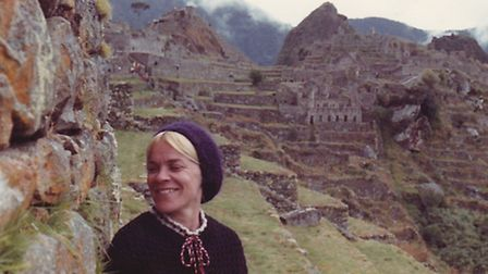 Catherine Salas in 1976 on her visit to the Inca Trail in Machu Picchu.