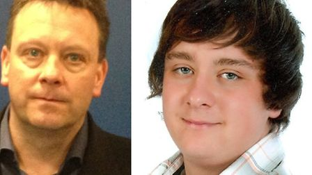 Stafford Whiston (left) with murdered son Jay Whiston (right)
