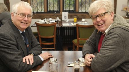 Sir Bob Russell meets with Paul Geater.
