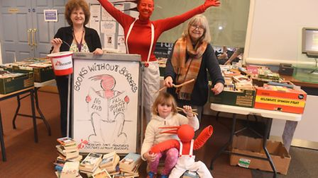 Woodbridge fundraiser Mandy Hearle (dressed as Ping) launches her latest effort for M�decins Sans Fr