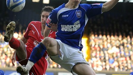 Lee Johnson battles with Jack Colback during his playing days