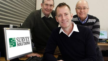 James Cooper, centre, of Survey Solutions, with Robertt Mullins, left, and Jeff Bate of East Anglia