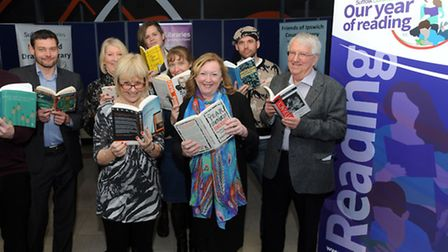 The launch of the 'Our Year of Reading' at Ipswich Library.