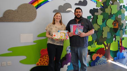 East Anglia's Children's Hospices Treehouse Hospice benefits from a donation of books - Dawn McGlone