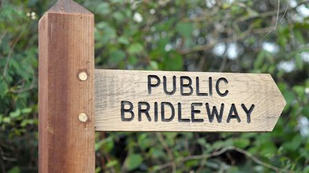 A bridleway bridge at Tharston has been closed to walkers and riders due to safety fears. Picture: A