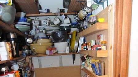 The chaotic pantry at James Arnold's home