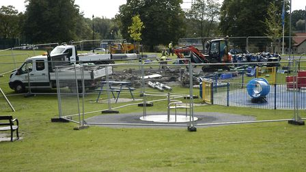 Diss Park play area will be closed during the refurbishment and is expected to reopen on November 18