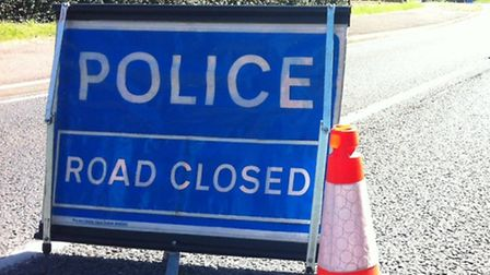 The A14 was closed at Bury St Edmunds.
