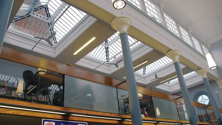 Part of the reglazing project carried out at Sudbury Library by Kent Blaxill.