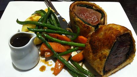 The Mill Bar and Grill Stowmarket. Beef wellington