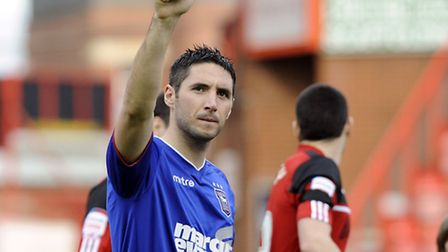 Bradley Orr making his final appearance of his loan spell for Ipswich at Ashton Gate