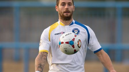 Jack Ainsley in action for former club Lowestoft Town