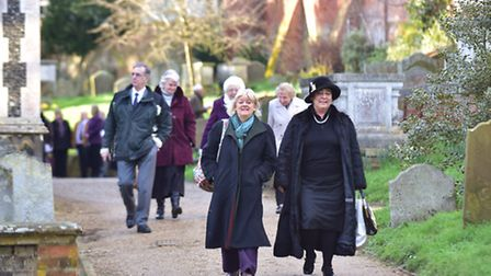 Hundreds of people joined together to celebrate the life of Peggy Cole at St Mary's Church in Woodbr