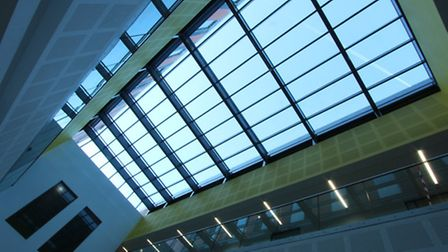 Daylight & Ventilation Solutions Ltd has installed two glass roofs at the University of Leicester Ce