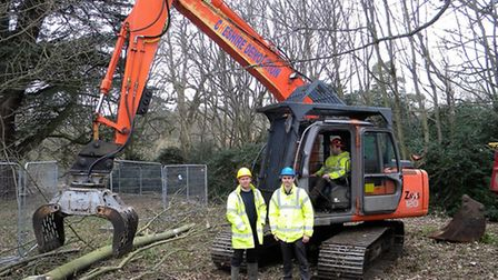 Pic as requested showing (yellow hat) Darren McGonagle, Brooks and Wood site supervisor and (blue ha