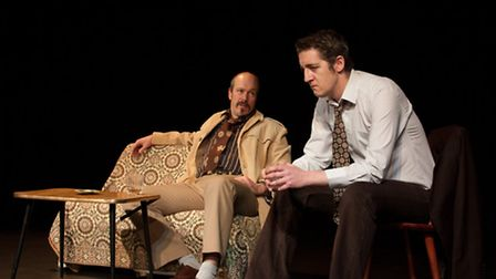 Andy Wisher and Jonny Goddard in Betrayal by Harold Pinter