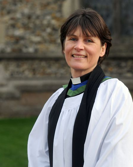 Rev Janet Nicholls, rural adviser and agricultural chaplain, is pictured at Thaxted Church.